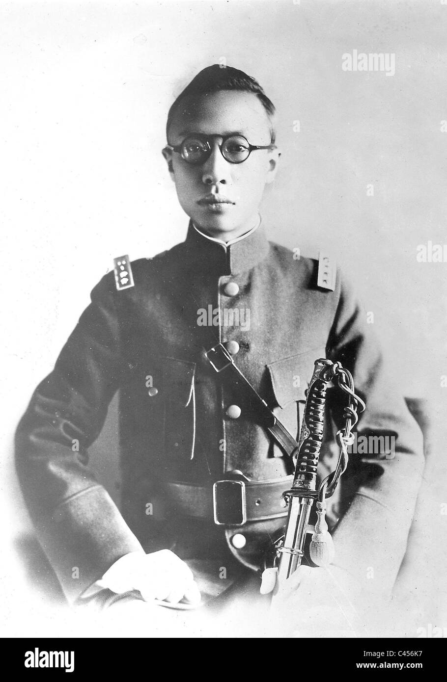 The designated Emperor of Manchukuo, Aisin-Gioro Puyi , 1934 - Stock Image