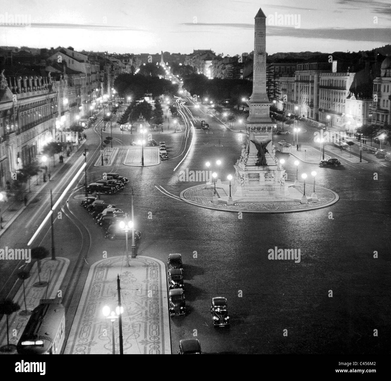 Lisbon in the evening, 1937 - Stock Image