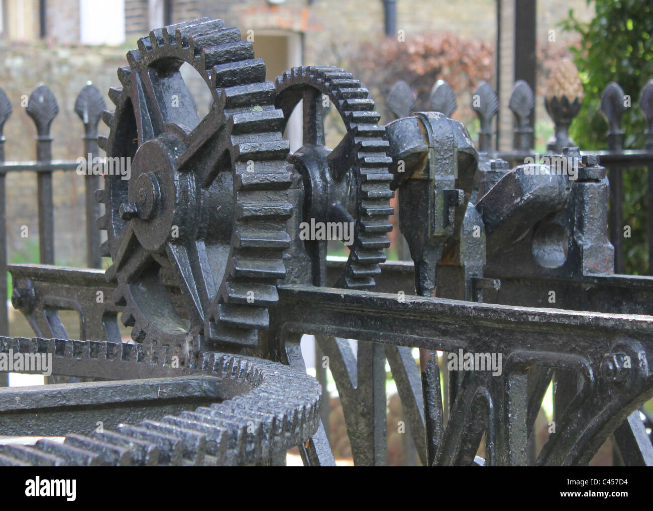 Workings of a Horse Drawn waterpump installed at Gads Hill by Charles Dickens. Now at Eastgate House, Rochester - Stock Image