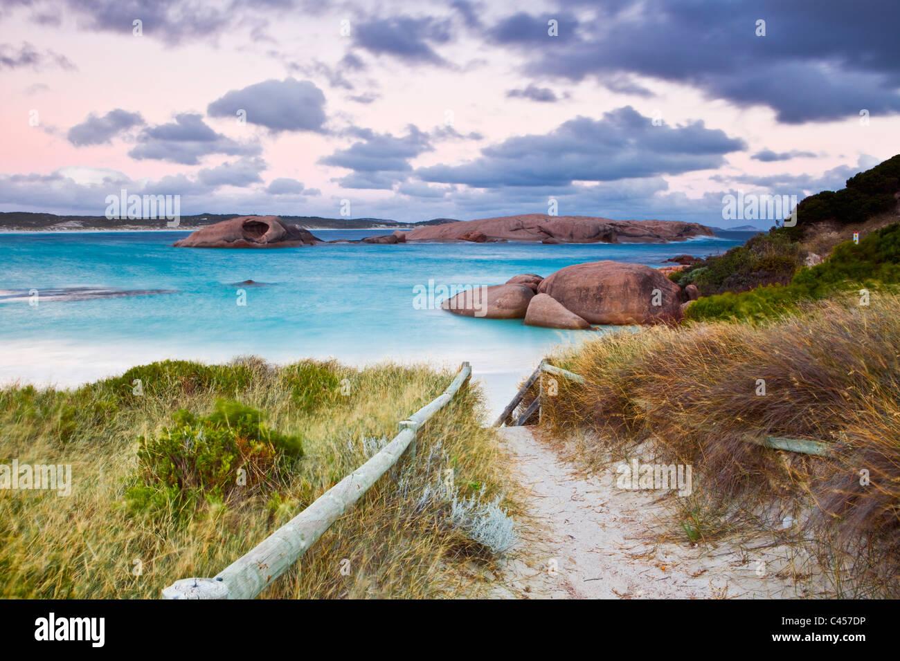 Twilight Cove at dusk. Esperance, Western Australia, Australia - Stock Image