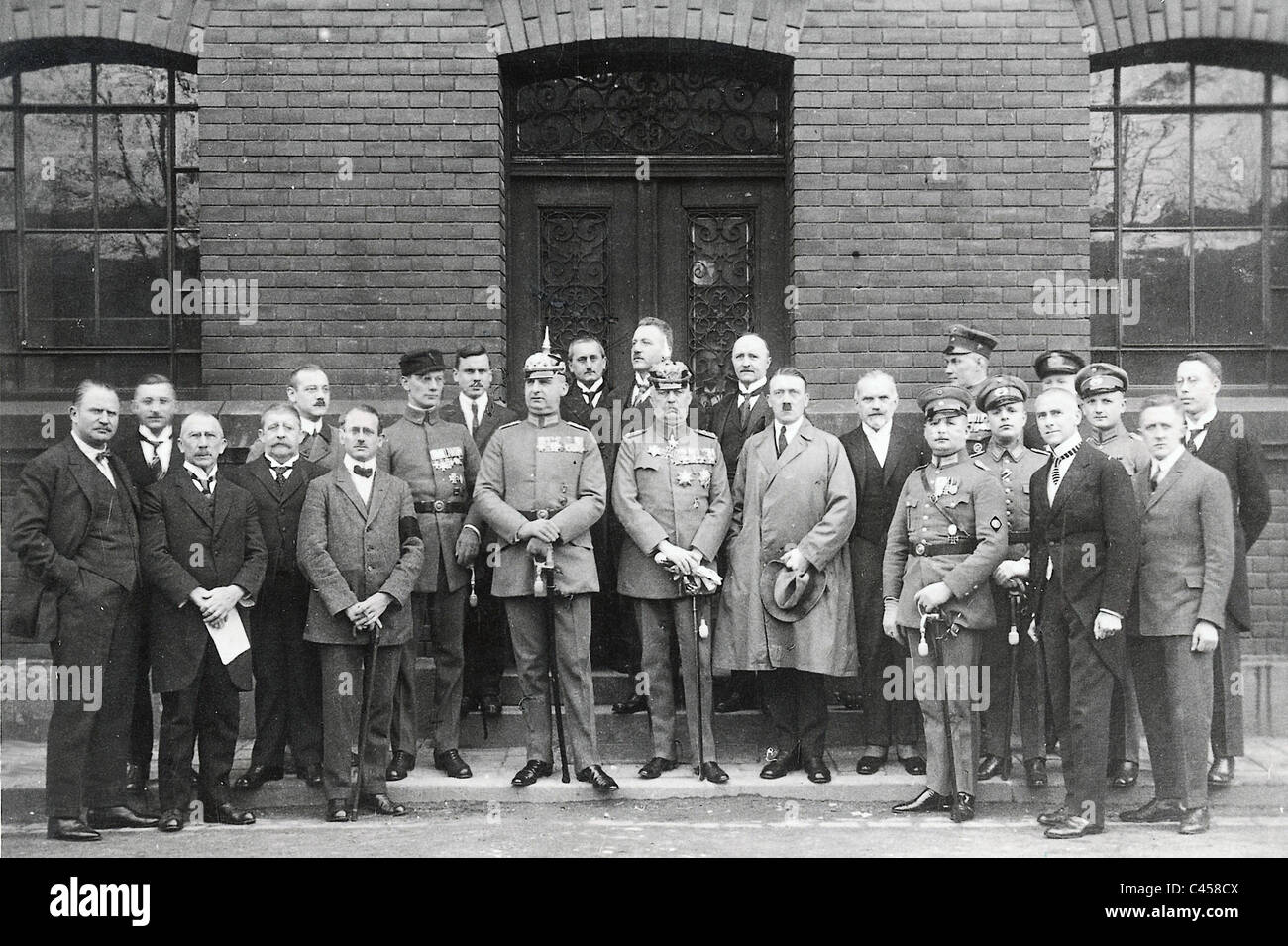 Defendants at the trial against Hitler and Ludendorff,1924 Stock Photo