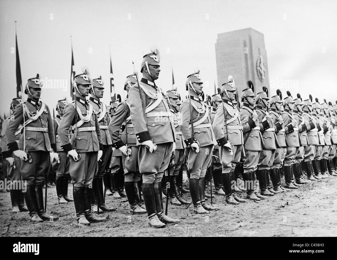 Police in parade uniforms, 1937 - Stock Image