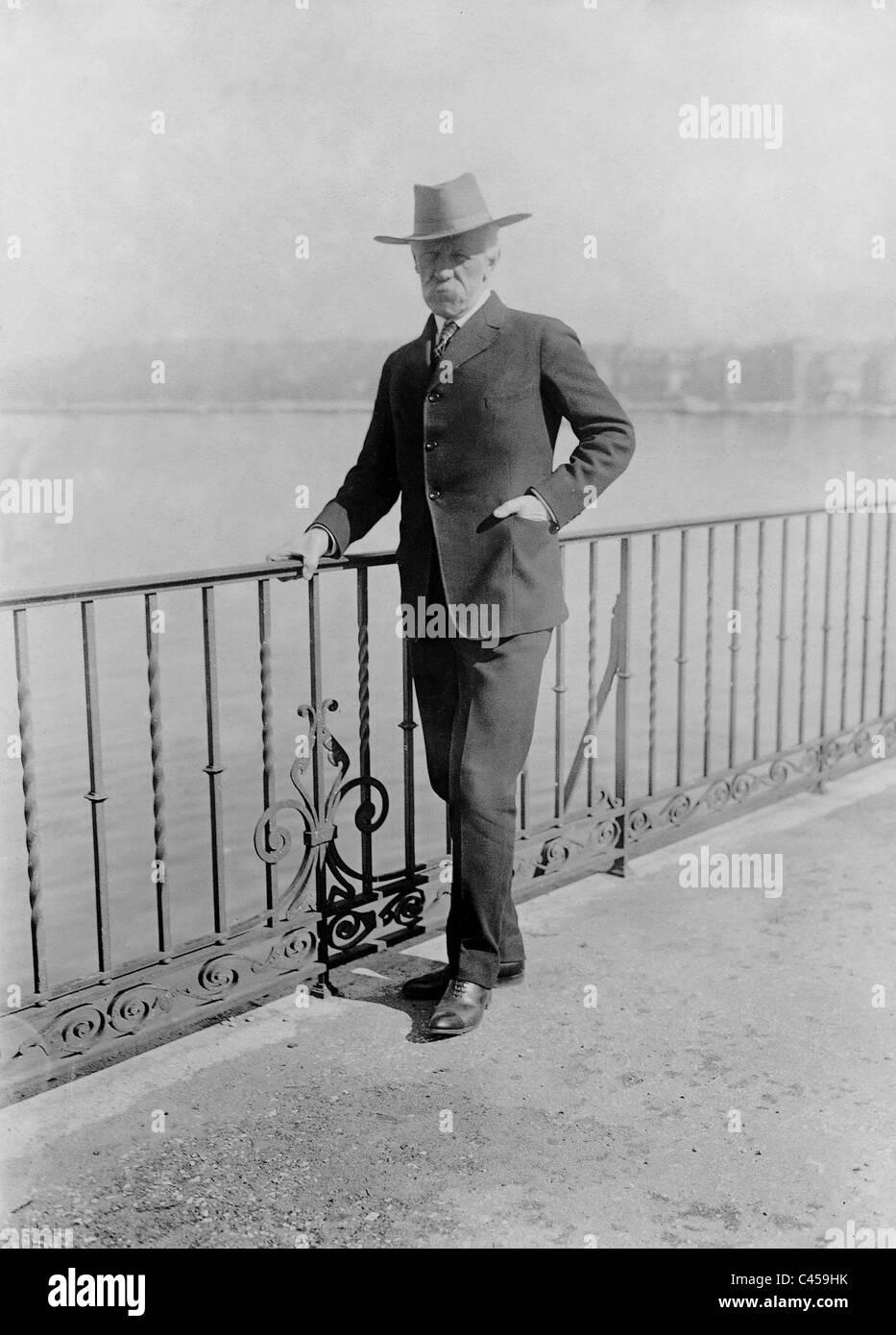 Fridtjof Nansen on Lake Geneva, 1922 - Stock Image