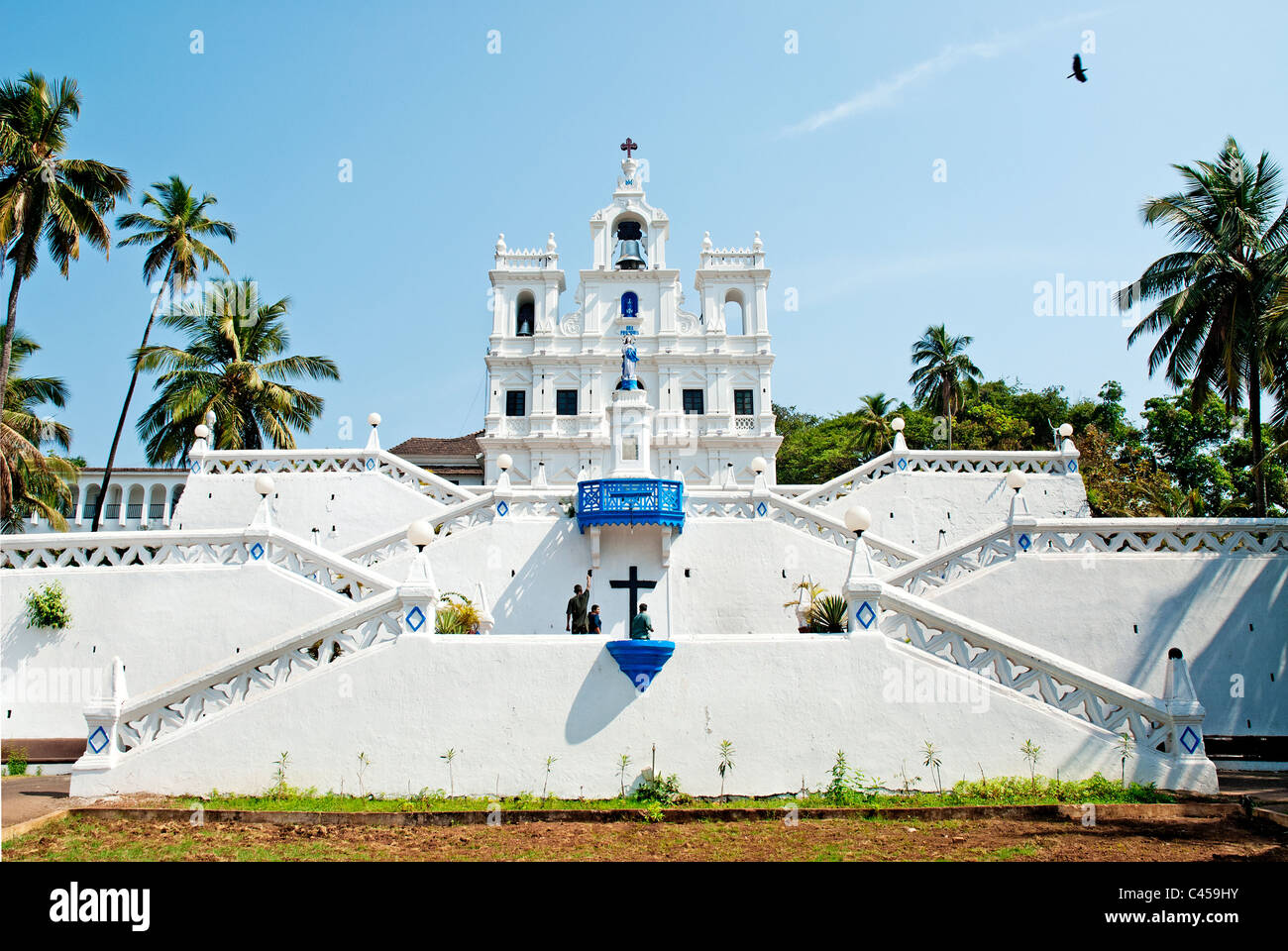 Church Mary Immaculate panaji goa india - Stock Image