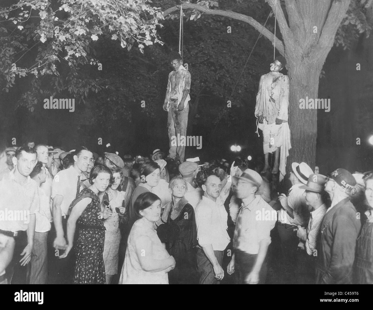 Lynching of two colored men in the United States, 1934 - Stock Image