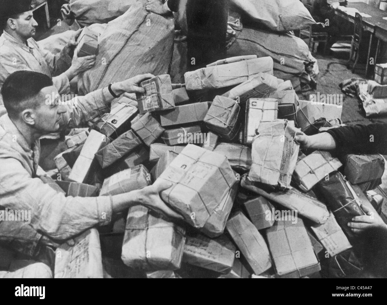 Army postal service on Christmas, 1941 - Stock Image