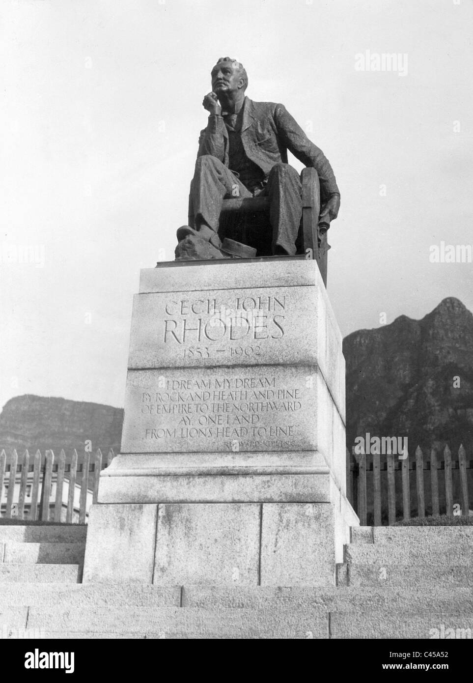 Monument for Cecil Rhodes - Stock Image