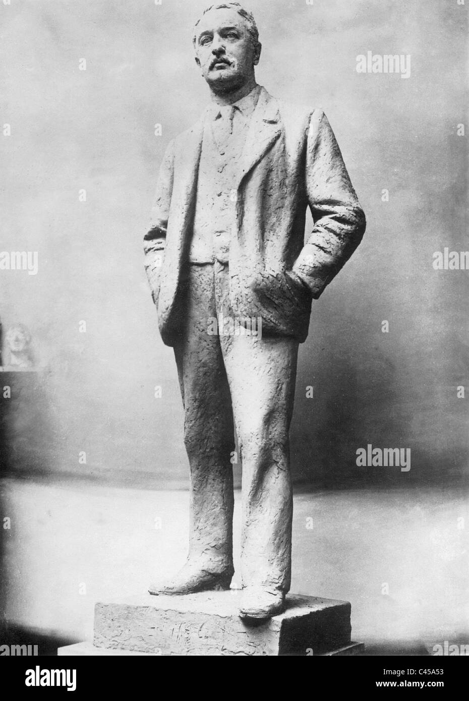 Statue of Cecil Rhodes, 1928 - Stock Image