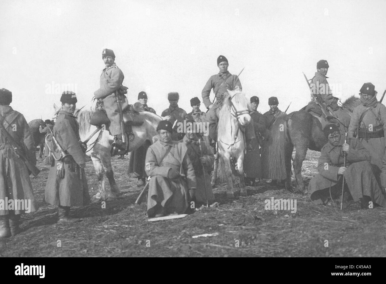 Russian soldiers in the Russo-Japanese war, 1904 - Stock Image