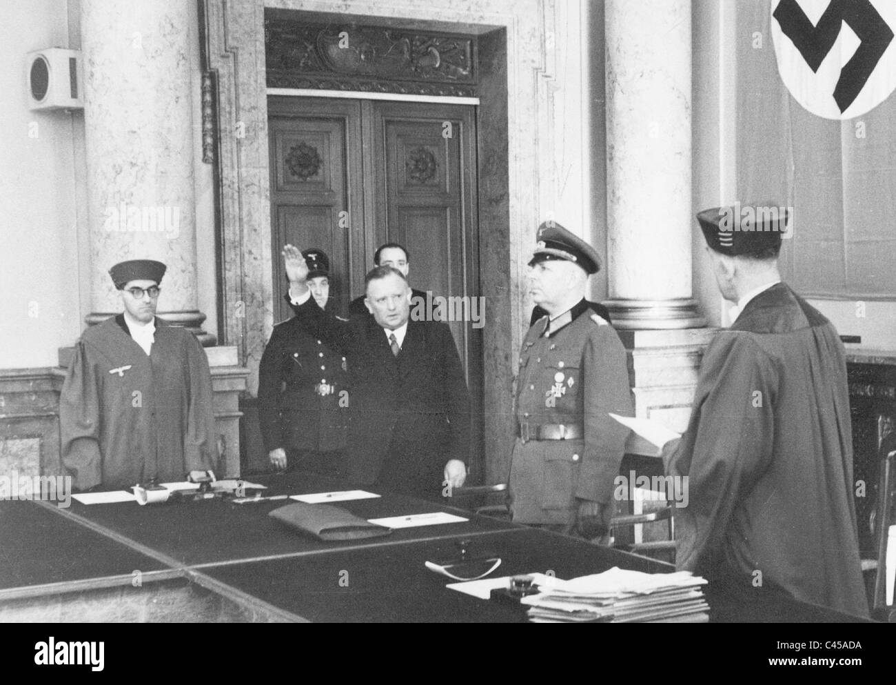 Trial at the People's Court, 1944 Stock Photo
