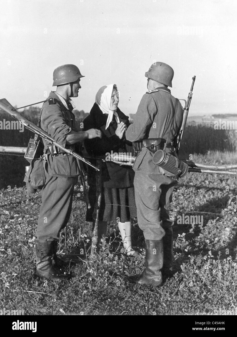Soldiers Chat With Ukrainian Women