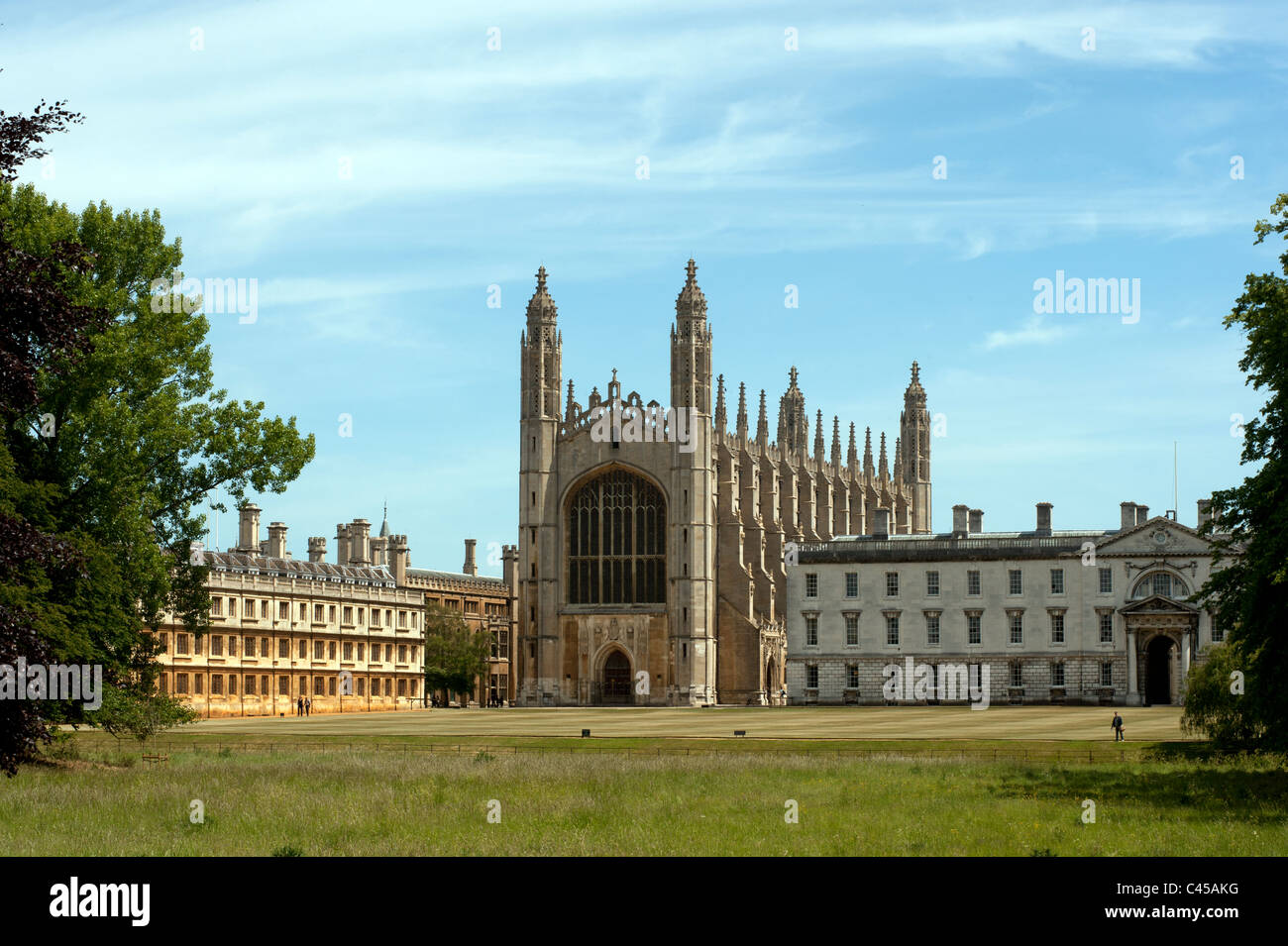 Cambridge, King's College Chapel, King's College, Cambridge University, England. 1 June 2011. Photograph - Stock Image