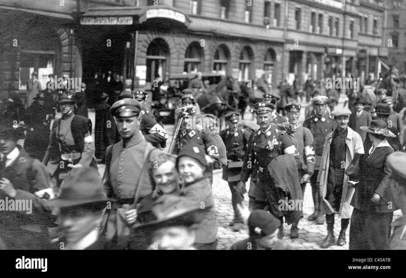 Entry of a Volunteer Corps unit into Munich, 1919