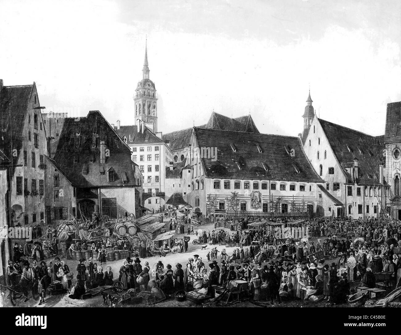 Munich 1824 - Stock Image