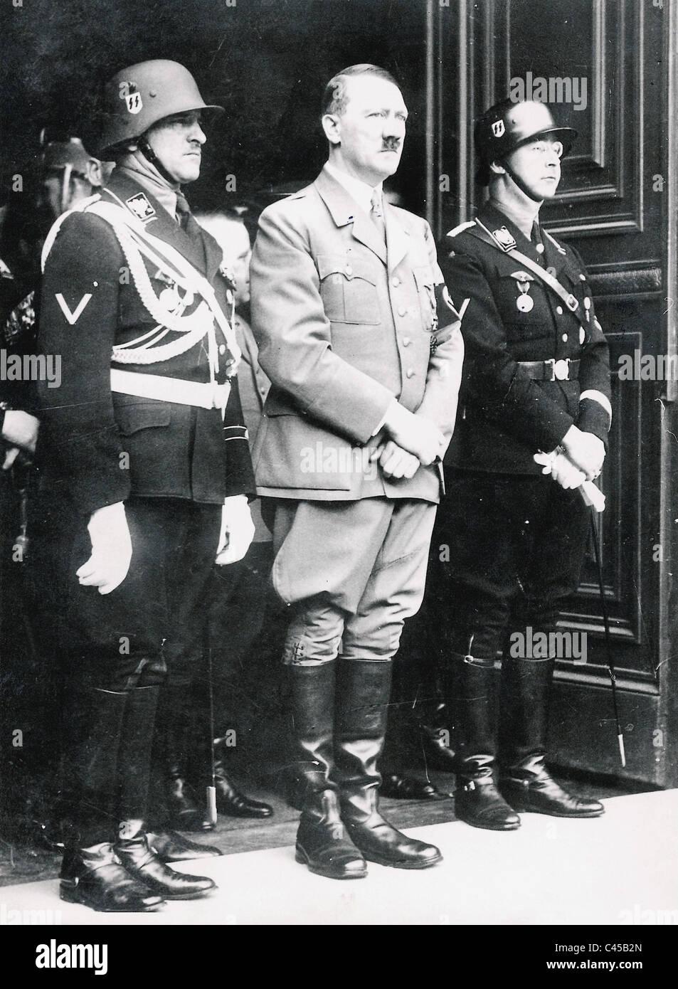 Dietrich Hitler Himmler At Hitler S Birthday 1938 Stock
