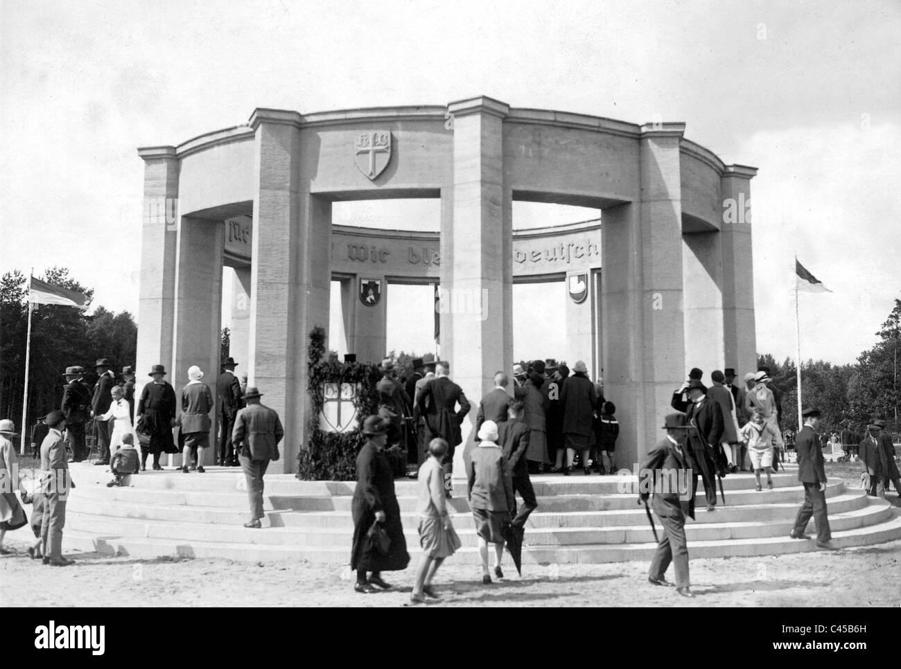 Voters Monument in Allenstein, today Olsztyn, 1939 - Stock Image