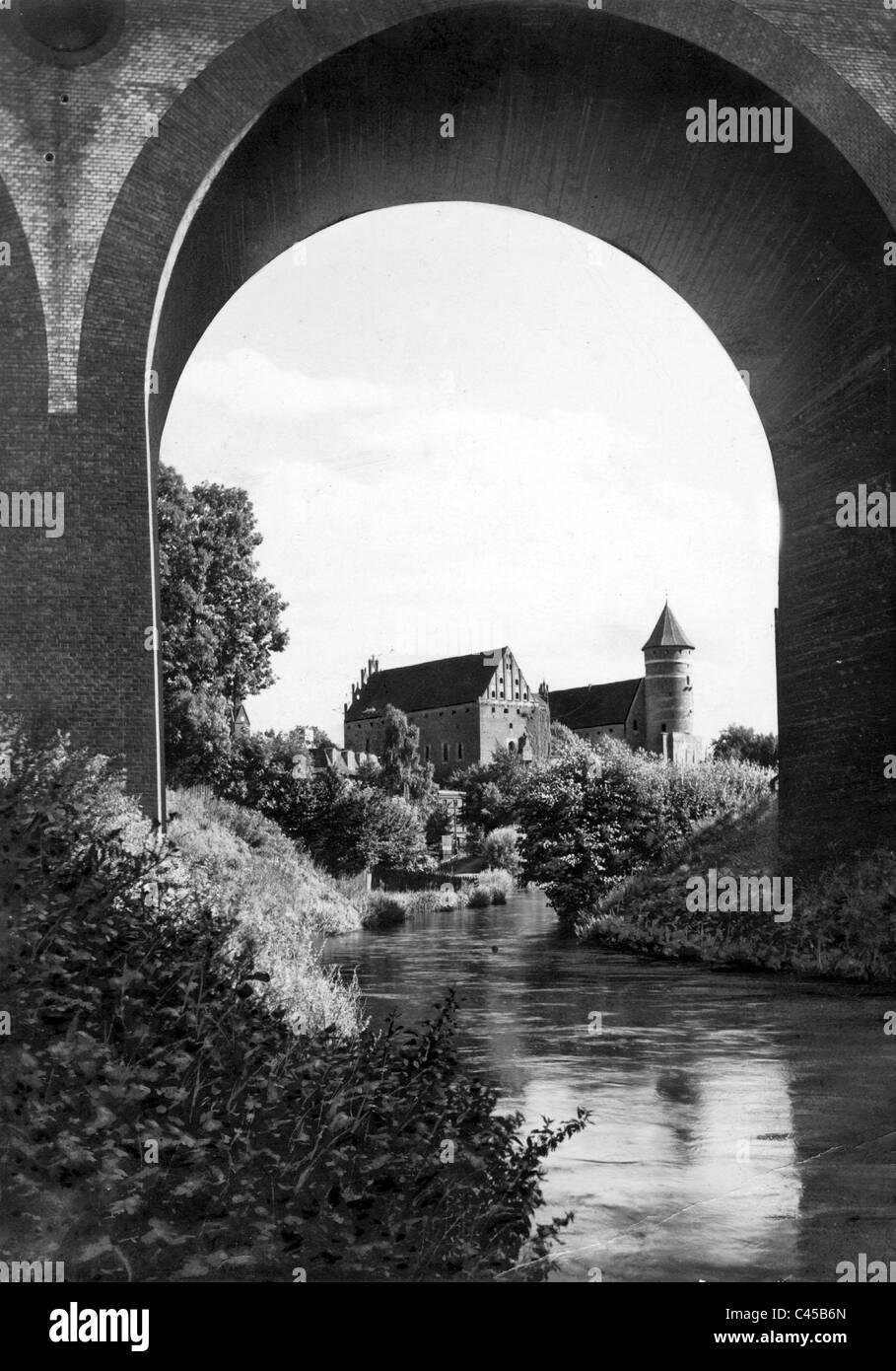 Allenstein Castle, today Olsztyn - Stock Image