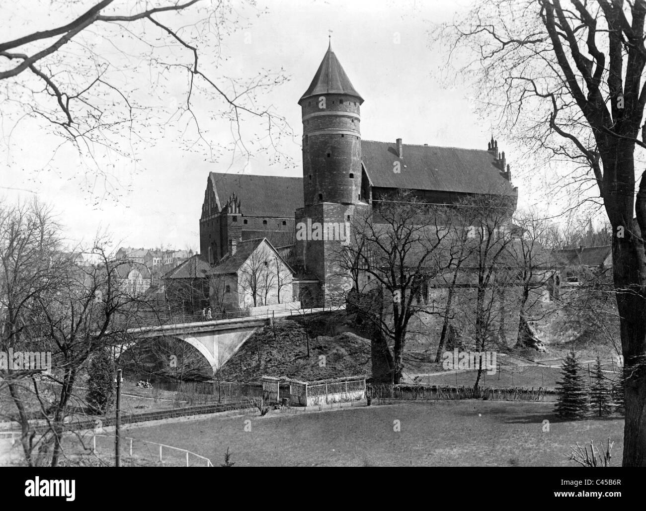 Castle Allenstein, today Olsztyn - Stock Image