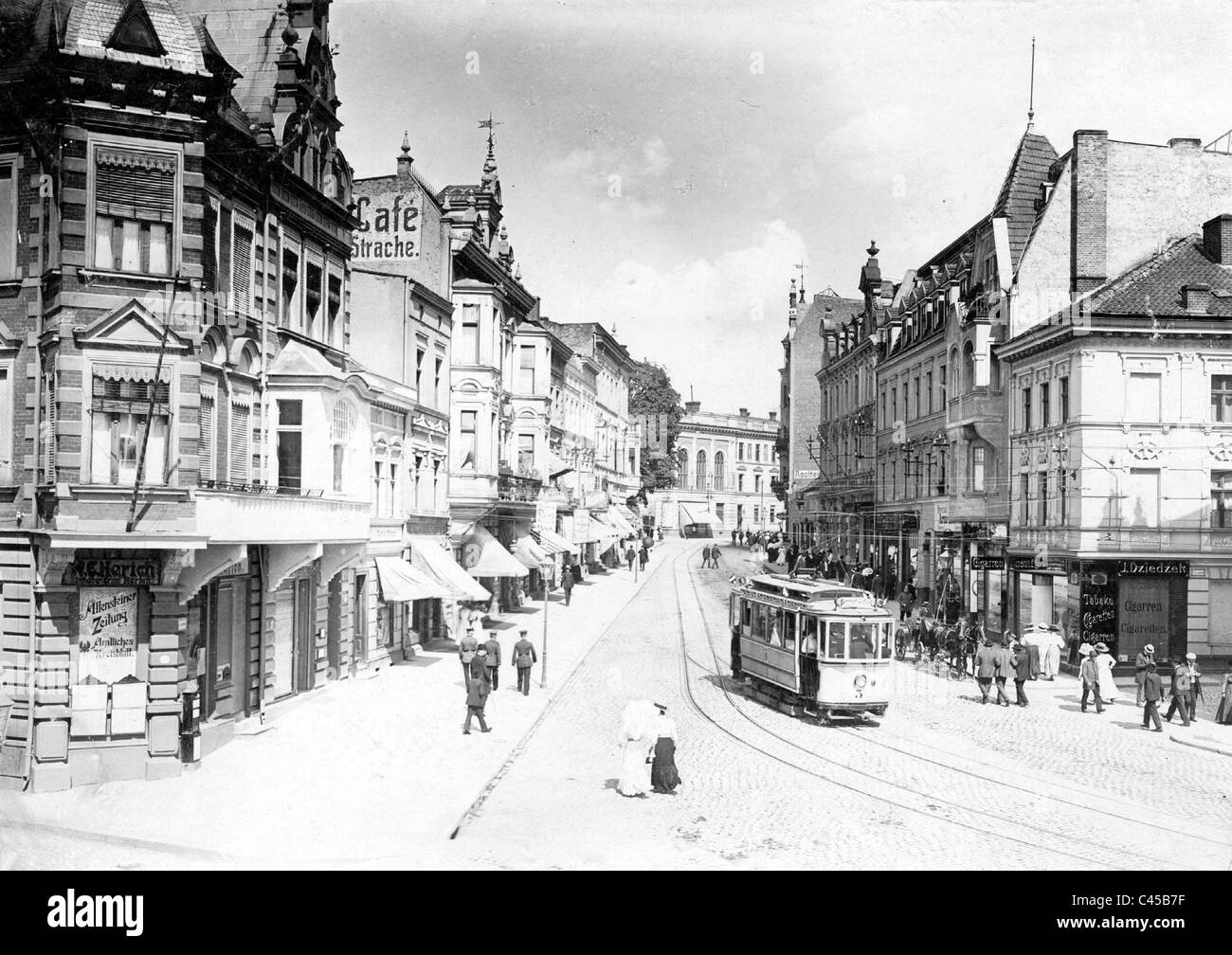 Zeppelinstrasse in Allenstein, today Olsztyn - Stock Image