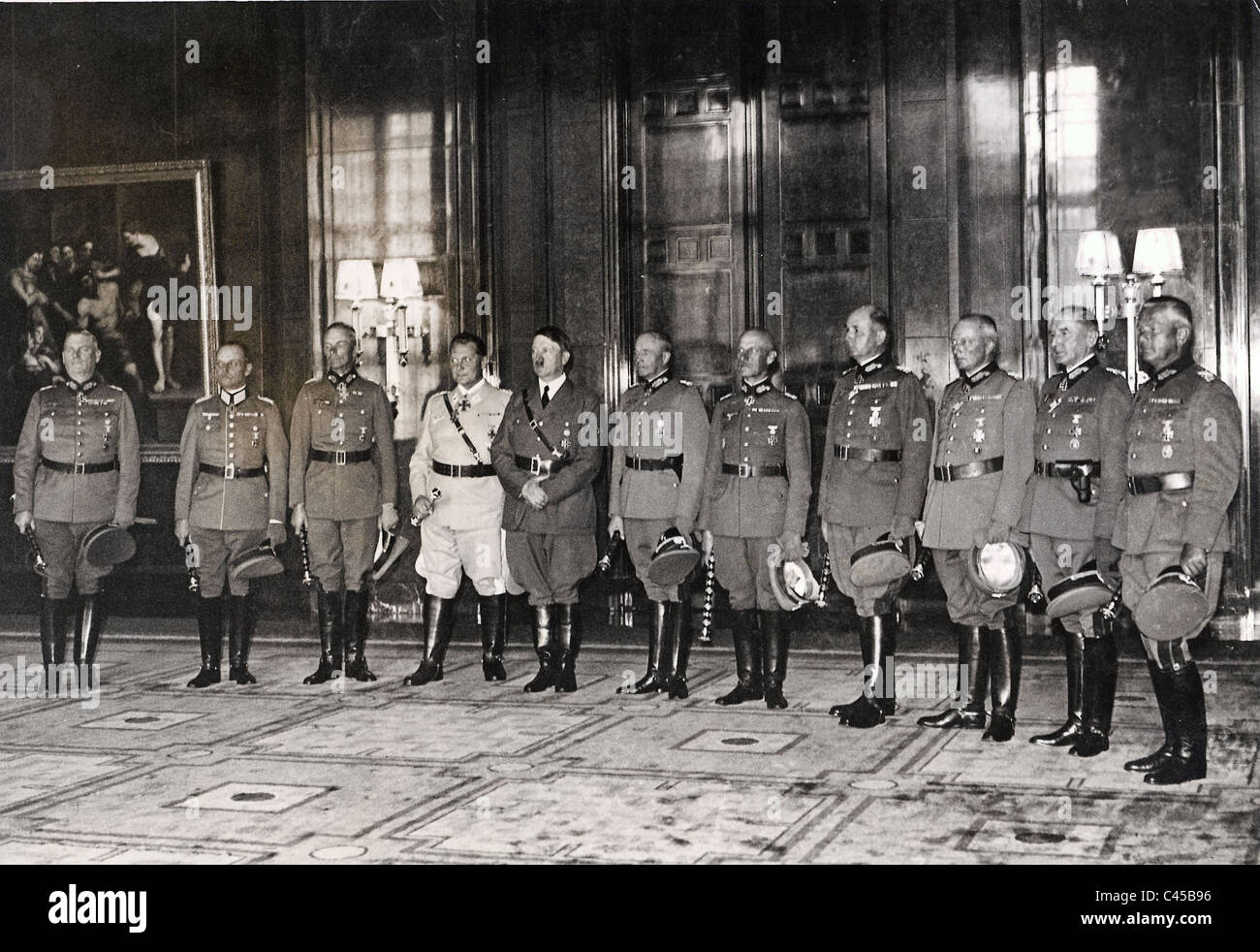 Hitler with generals - Stock Image