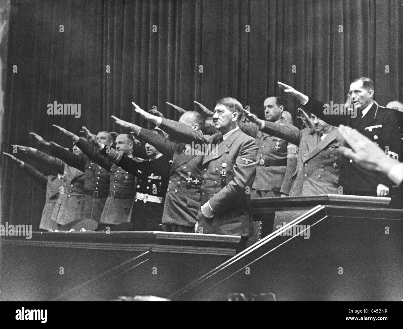 Hitler in the Reichstag, 1941 - Stock Image