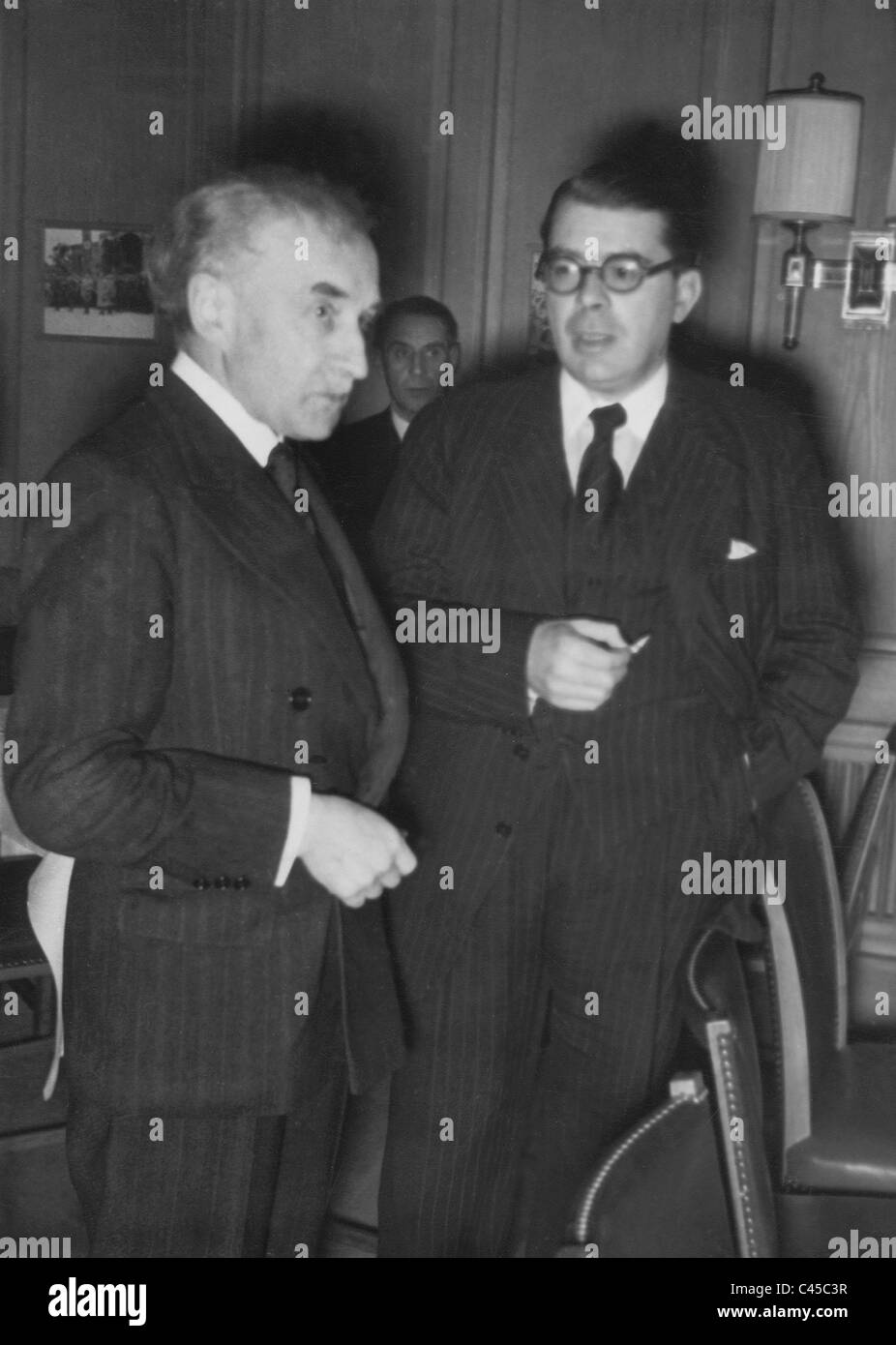 Abel Bonnard and Ramon Fernandez at the Writers' Meeting in Weimar, 1941Stock Photo