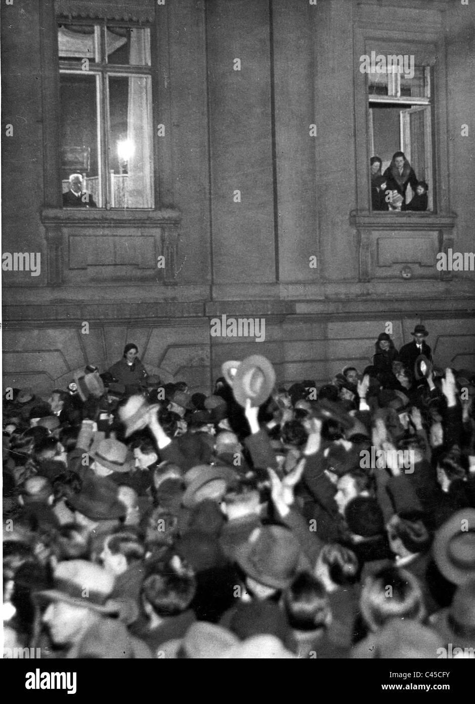 Paul von Hindenburg 30.1.1933 - Stock Image