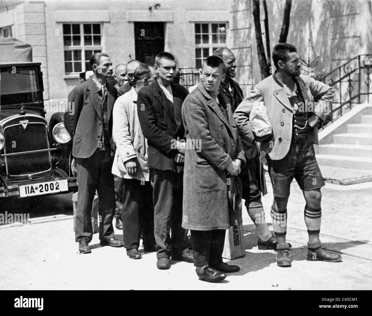 Political prisoners in the Dachau concentration camp, 1933 Stock Photo