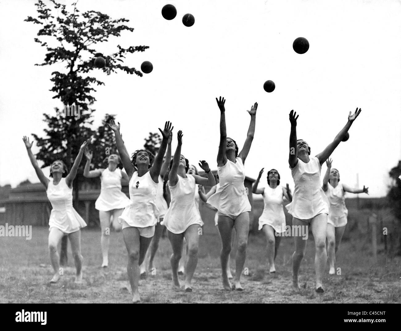 League of German Girls practicing gymnastics - Stock Image