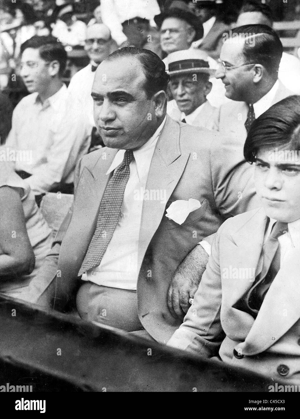 al capone with son 1931 stock photo 36999259 alamy