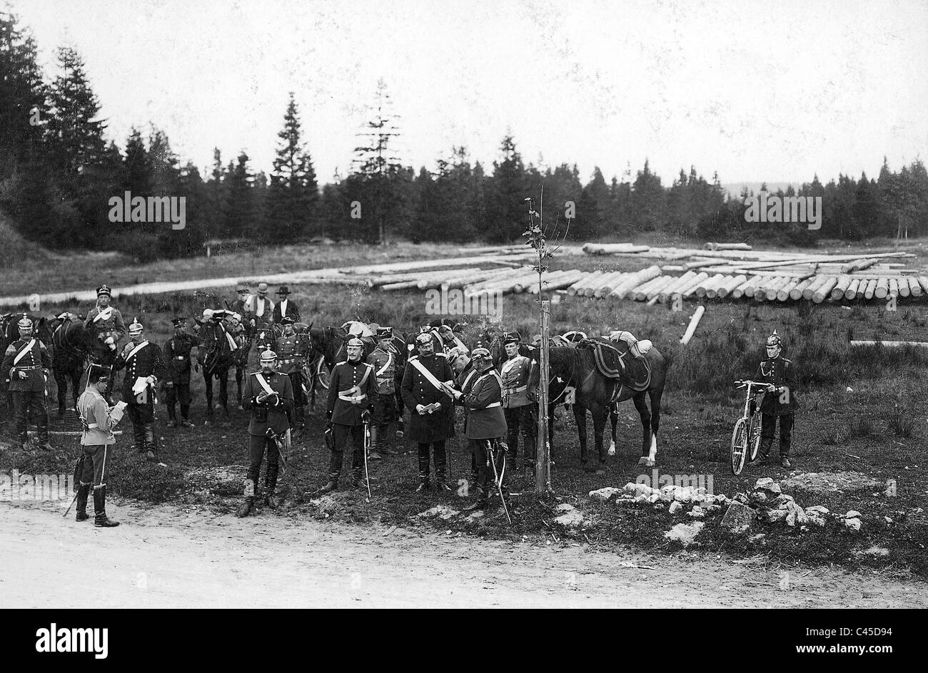 Emperor's Manoeuvre 1899 - Stock Image
