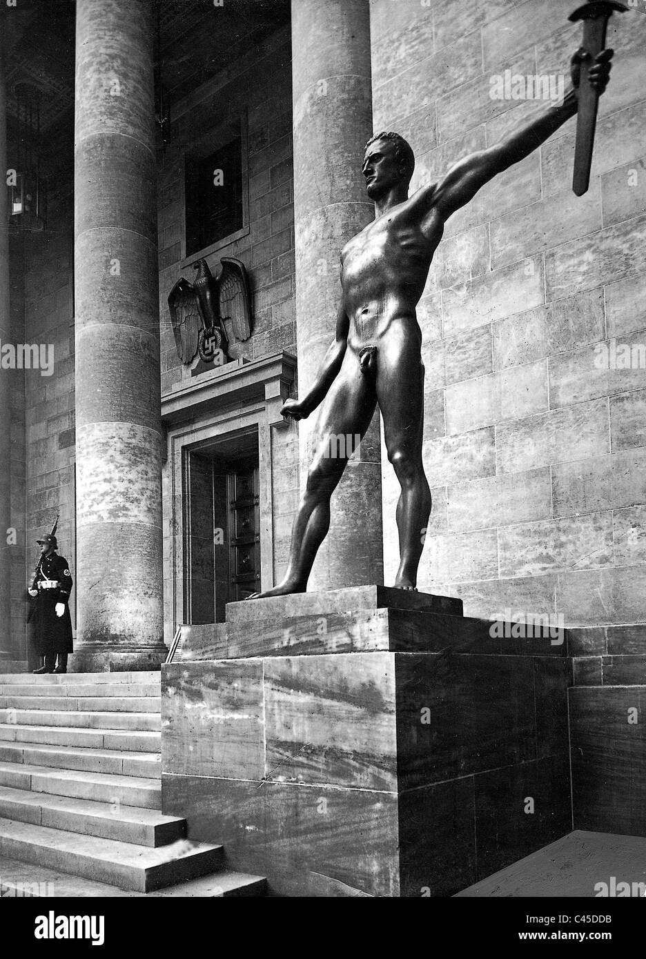 Sculpture before the Reich Chancellery, 1939 - Stock Image