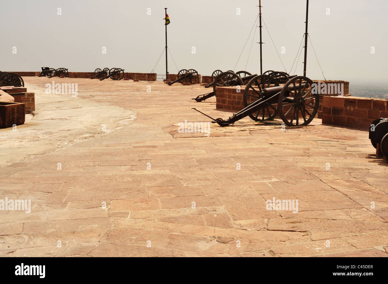 View of Antique Guns in Mehrangarh fort Jodhpur. - Stock Image