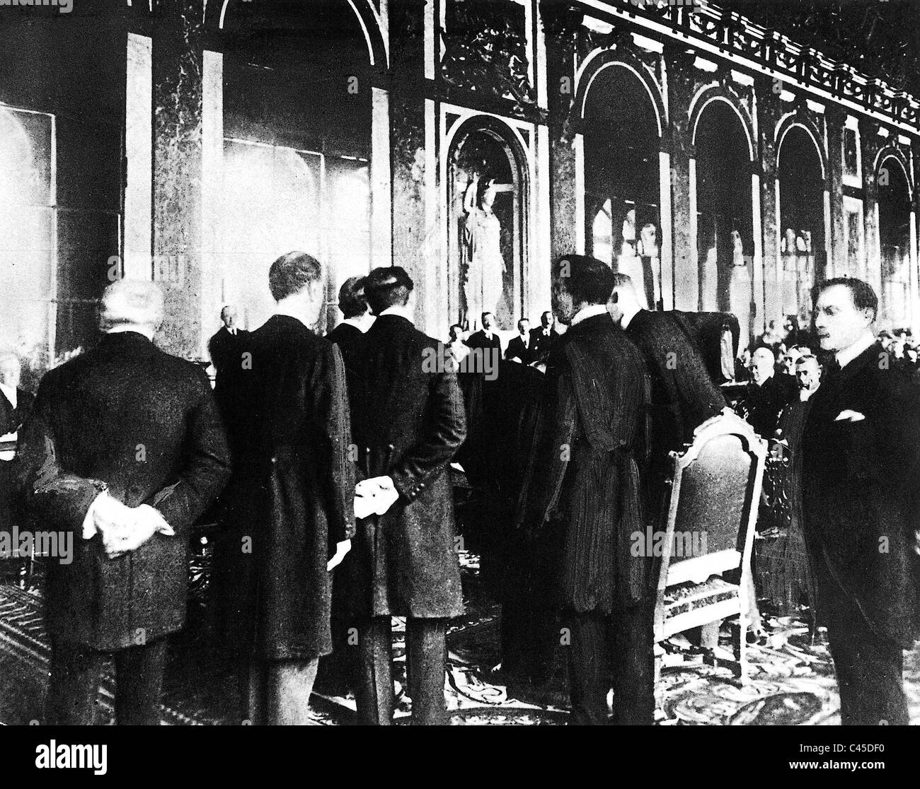 the versailles treaty The most important of these treaties was the treaty of versailles ending the war with germany that was produced by the paris peace conference and signed june 28, 1919 .