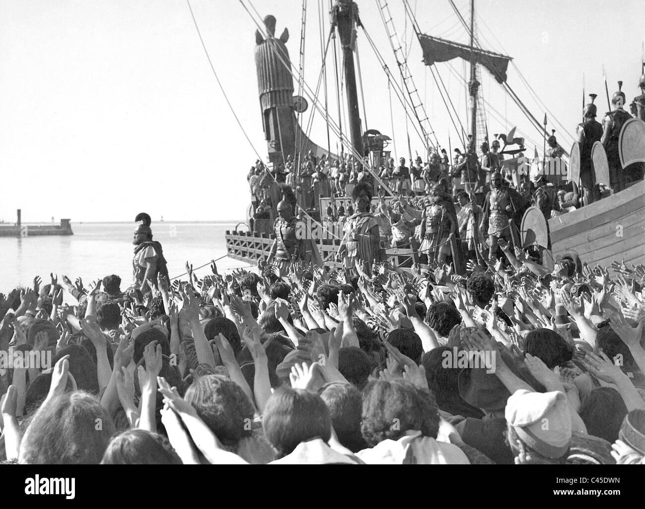 Film scenes of the movie Scipione l'Africano - Stock Image