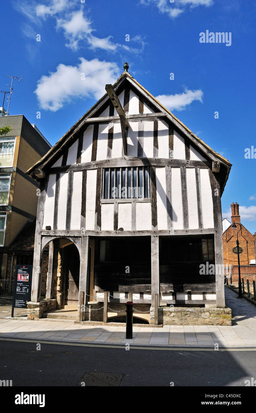 The 13th century medieval house is one of the earliest surviving merchants houses in England, Southampton - Stock Image