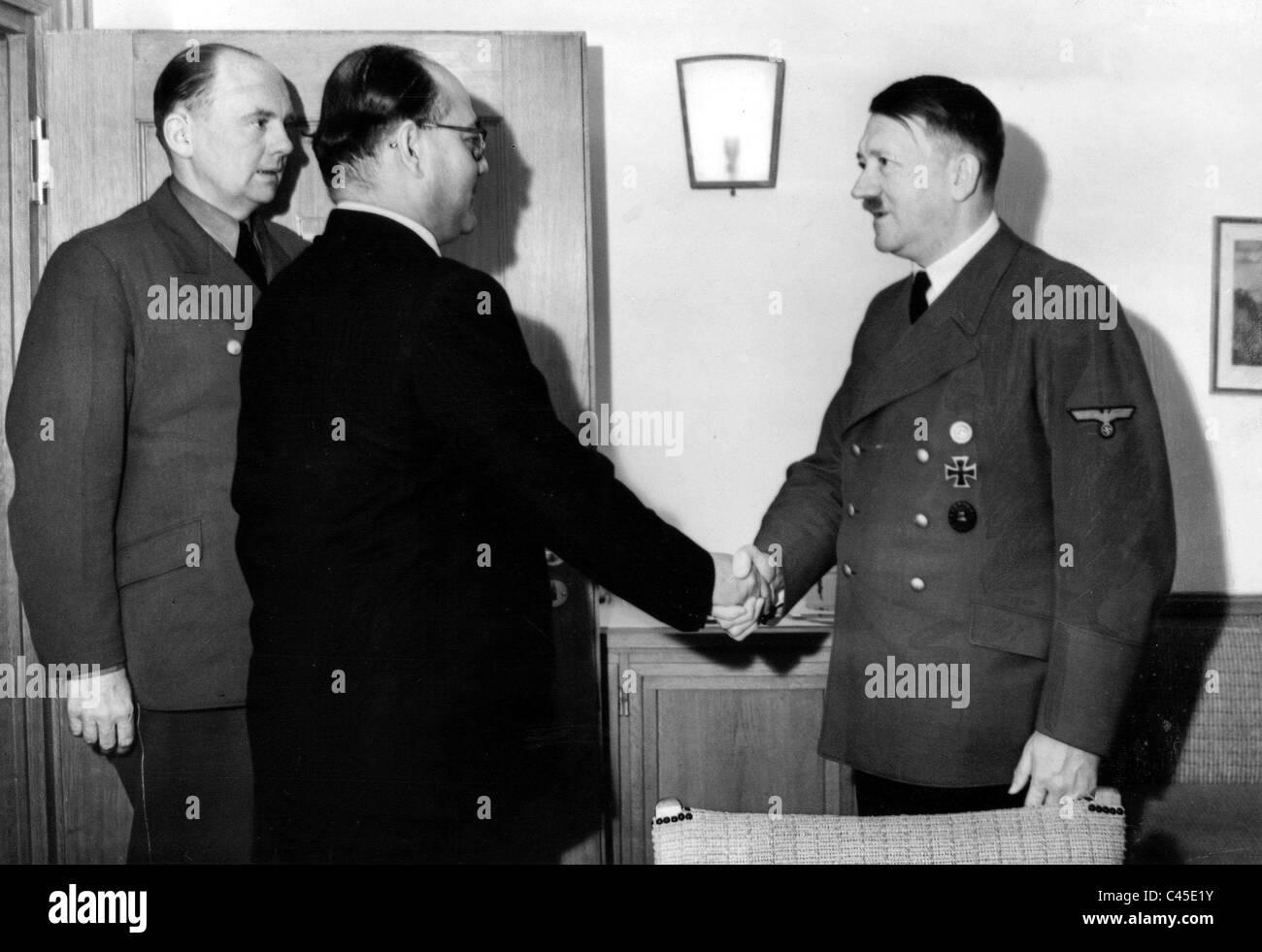 Subhas Chandra Bose at Adolf Hitler - Stock Image