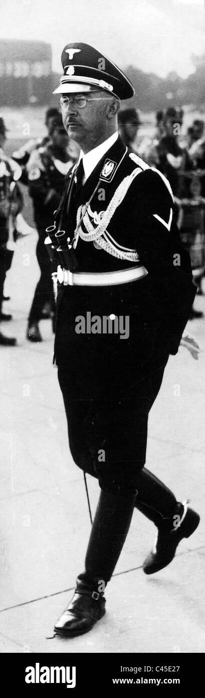Heinrich Himmler in dress uniform in 1938 in Berlin-Tempelhof - Stock Image