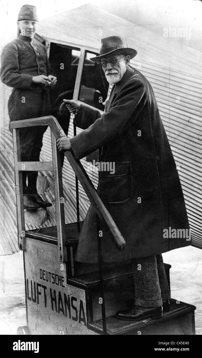 Sigmund Freud, 1928 - Stock Image