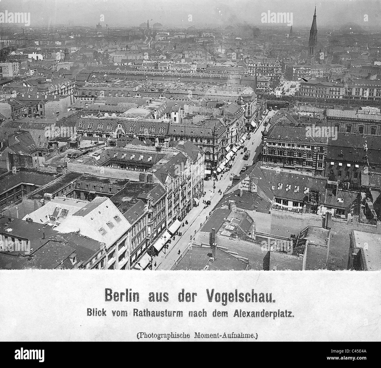 Koenig Street in Berlin, 1908 - Stock Image