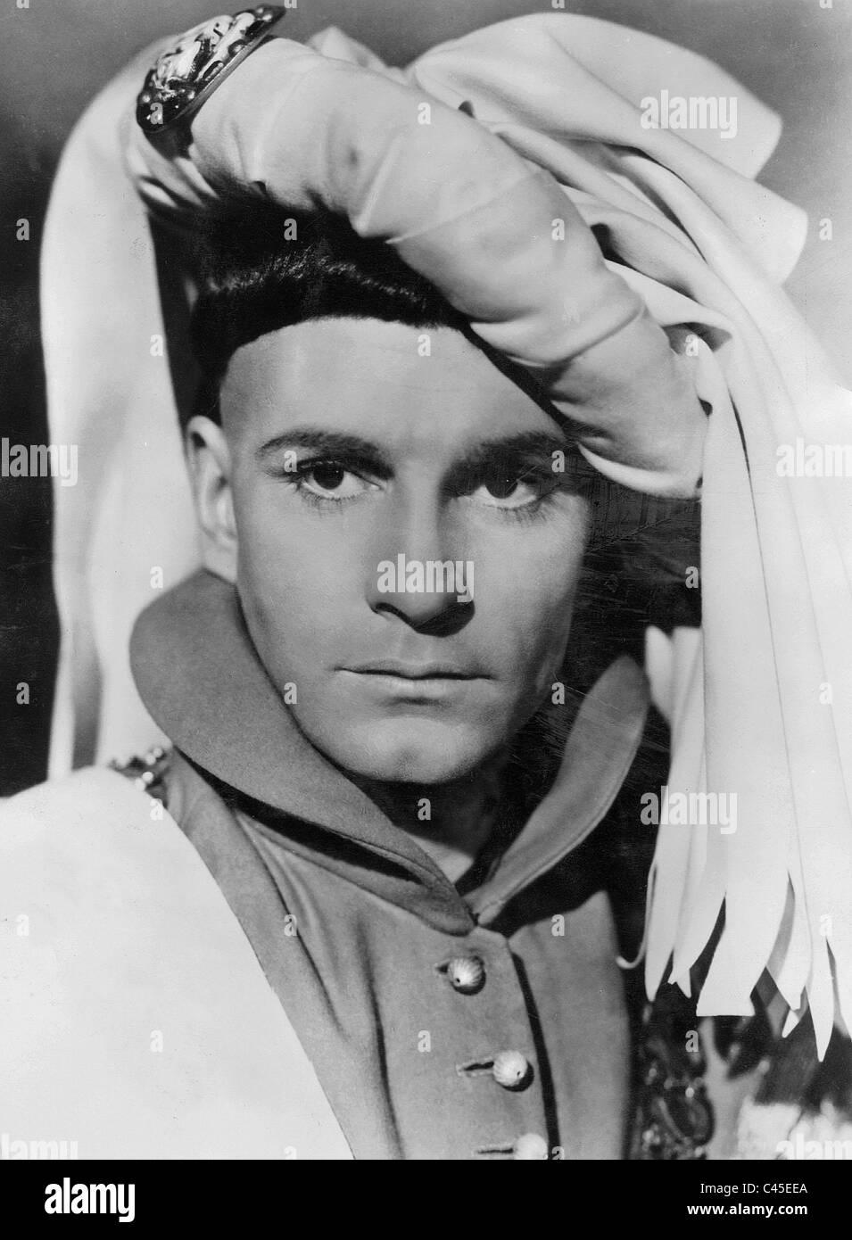 Laurence Olivier in 'Henry V', 1944 - Stock Image