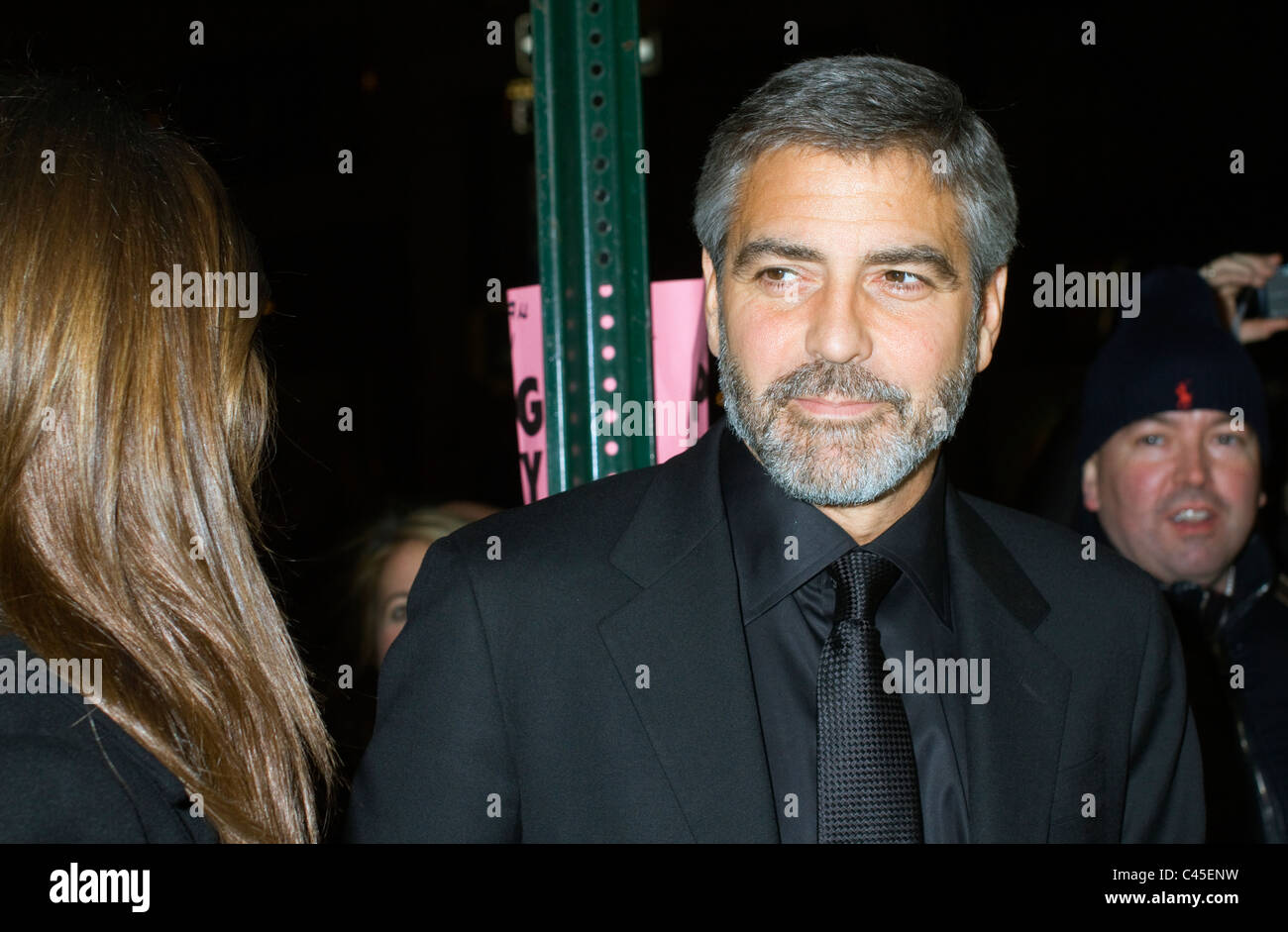 Actor George Clooney arrives for the New York Film Critics Circle Awards - Stock Image