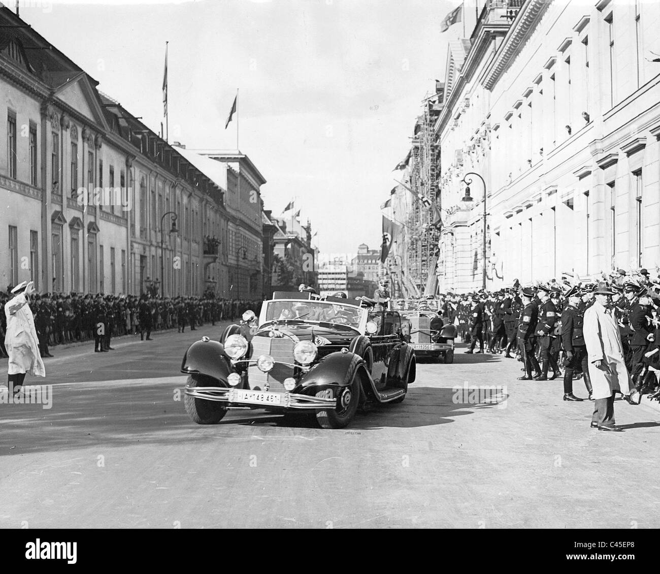 Drive of Adolf Hitler to the Reichstag on 06/10/1939 - Stock Image