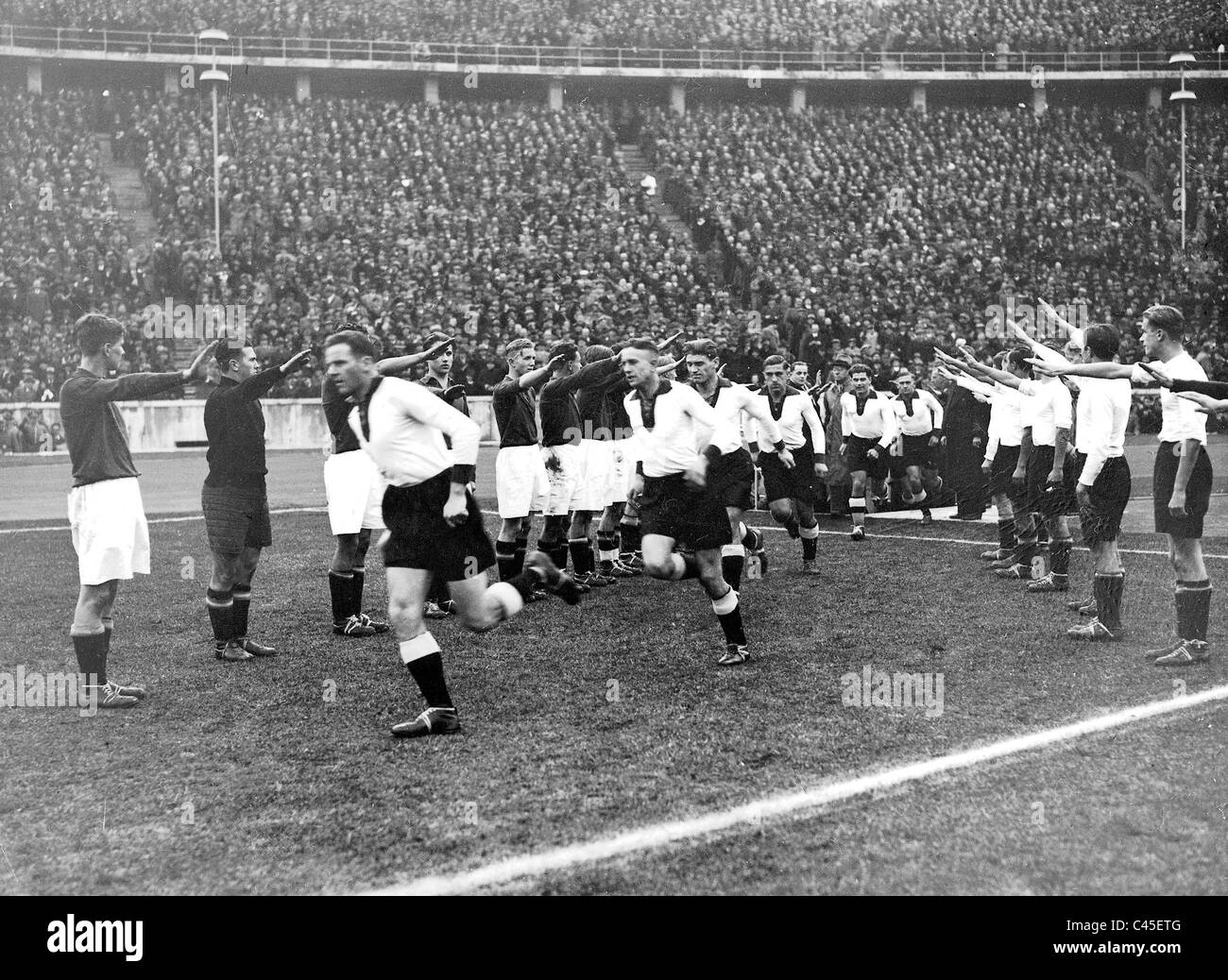 Football game: Germany versus Italy - Stock Image