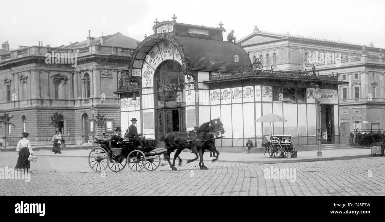 Karlsplatz in Vienna, 1903 - Stock Image
