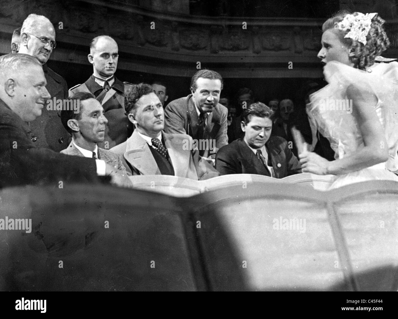 Goebbels at a test filming at UFA, 1935 - Stock Image