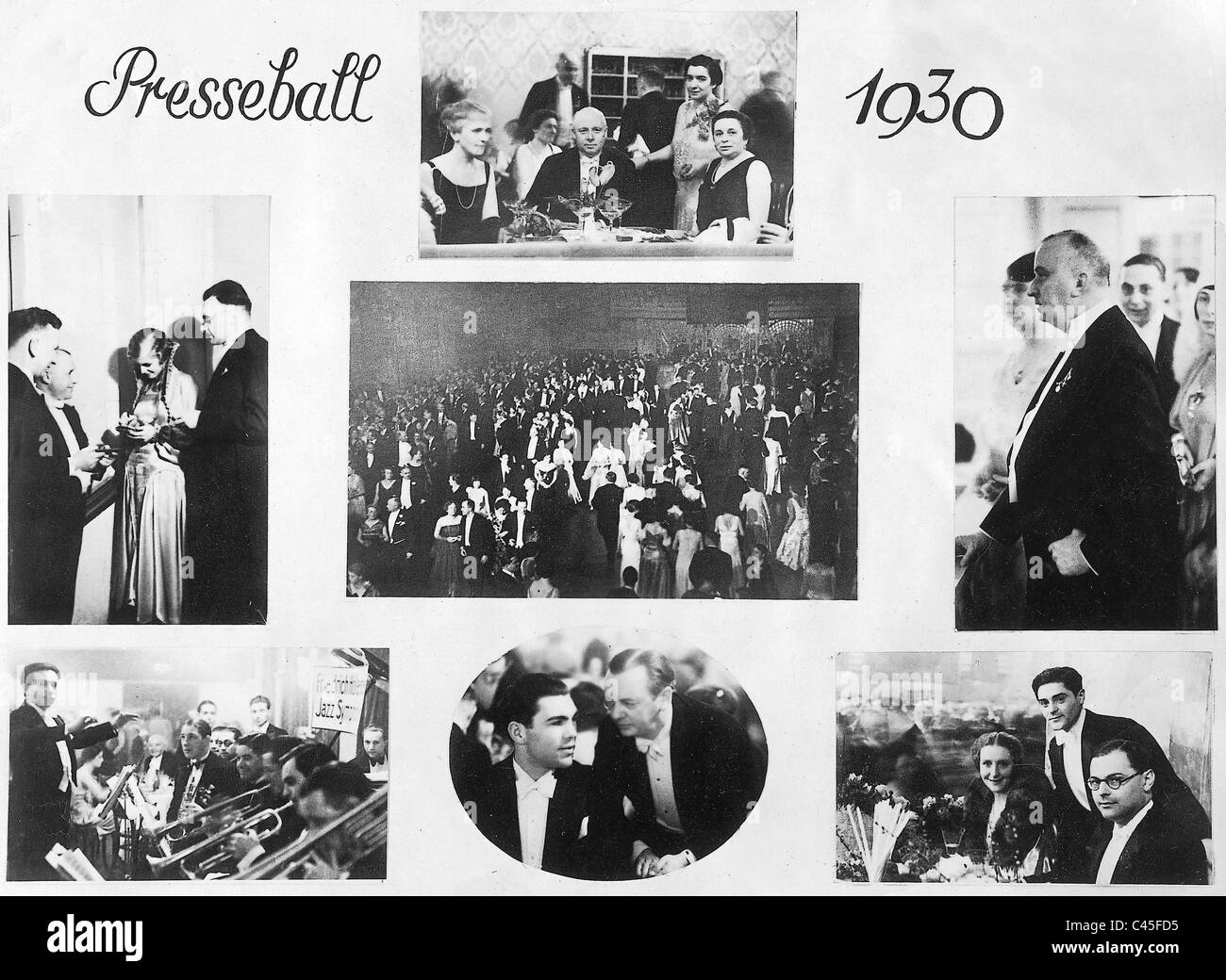 Photos of the Berlin press ball in 1930 - Stock Image