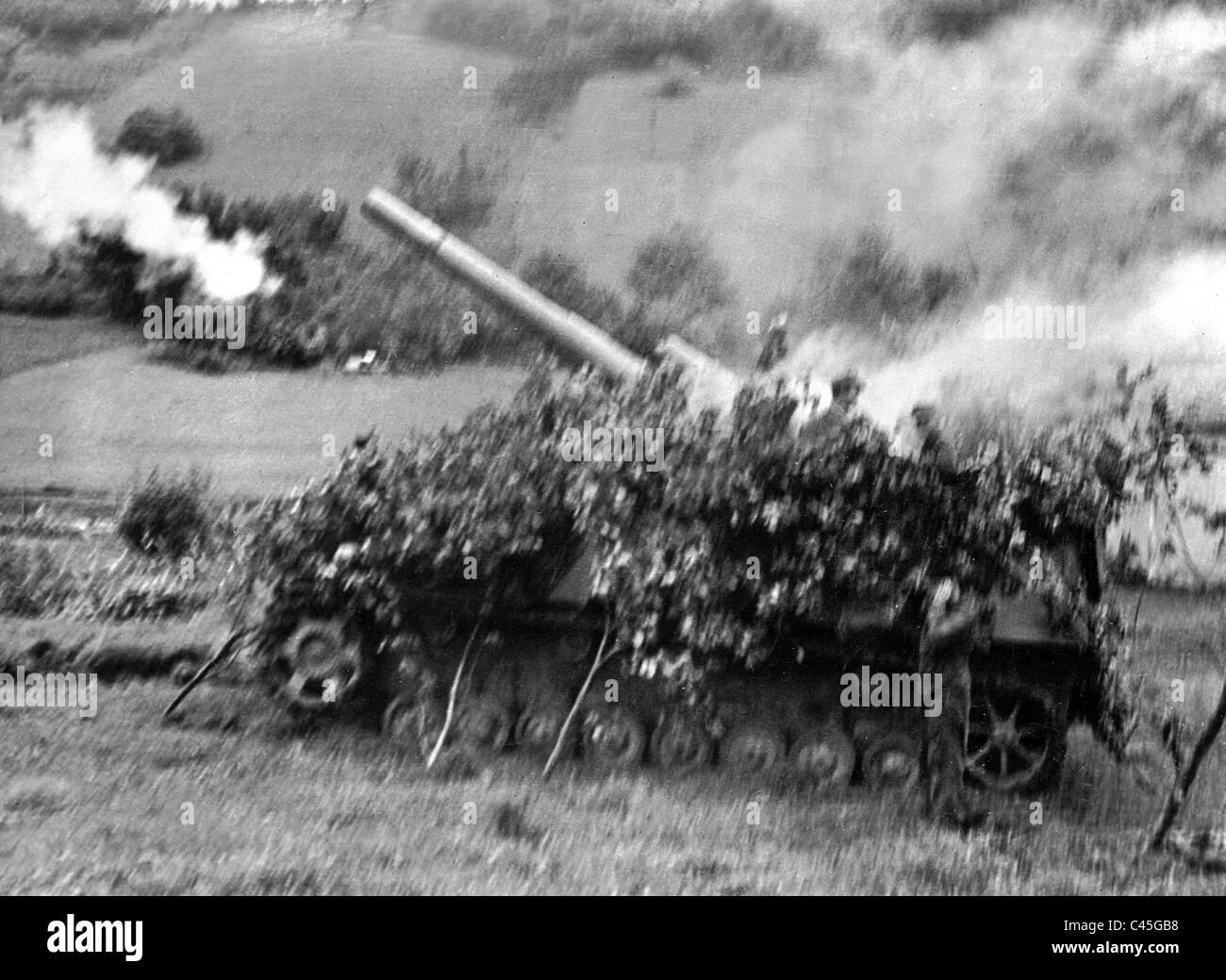 German self-propelled gun 'Hummel', 1944 - Stock Image