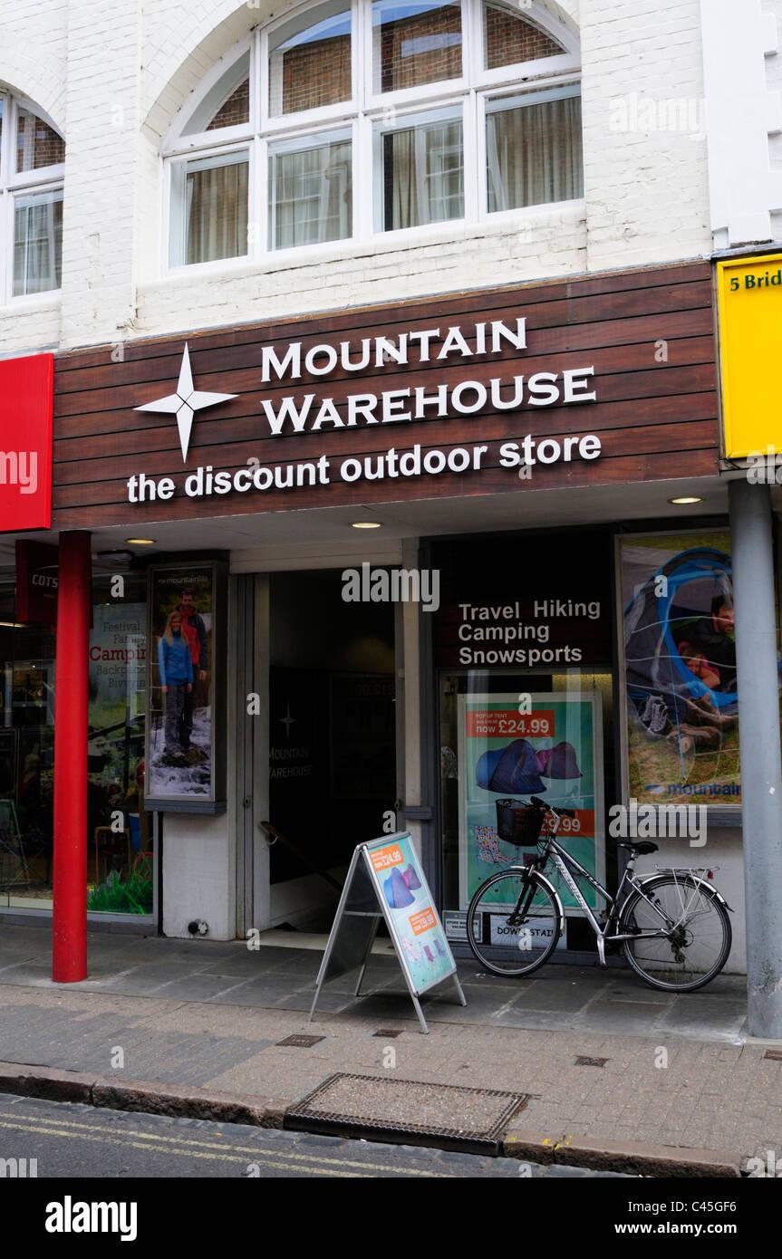 Mountain Warehouse The Discount Outdoor Store, Cambridge, England, UK - Stock Image