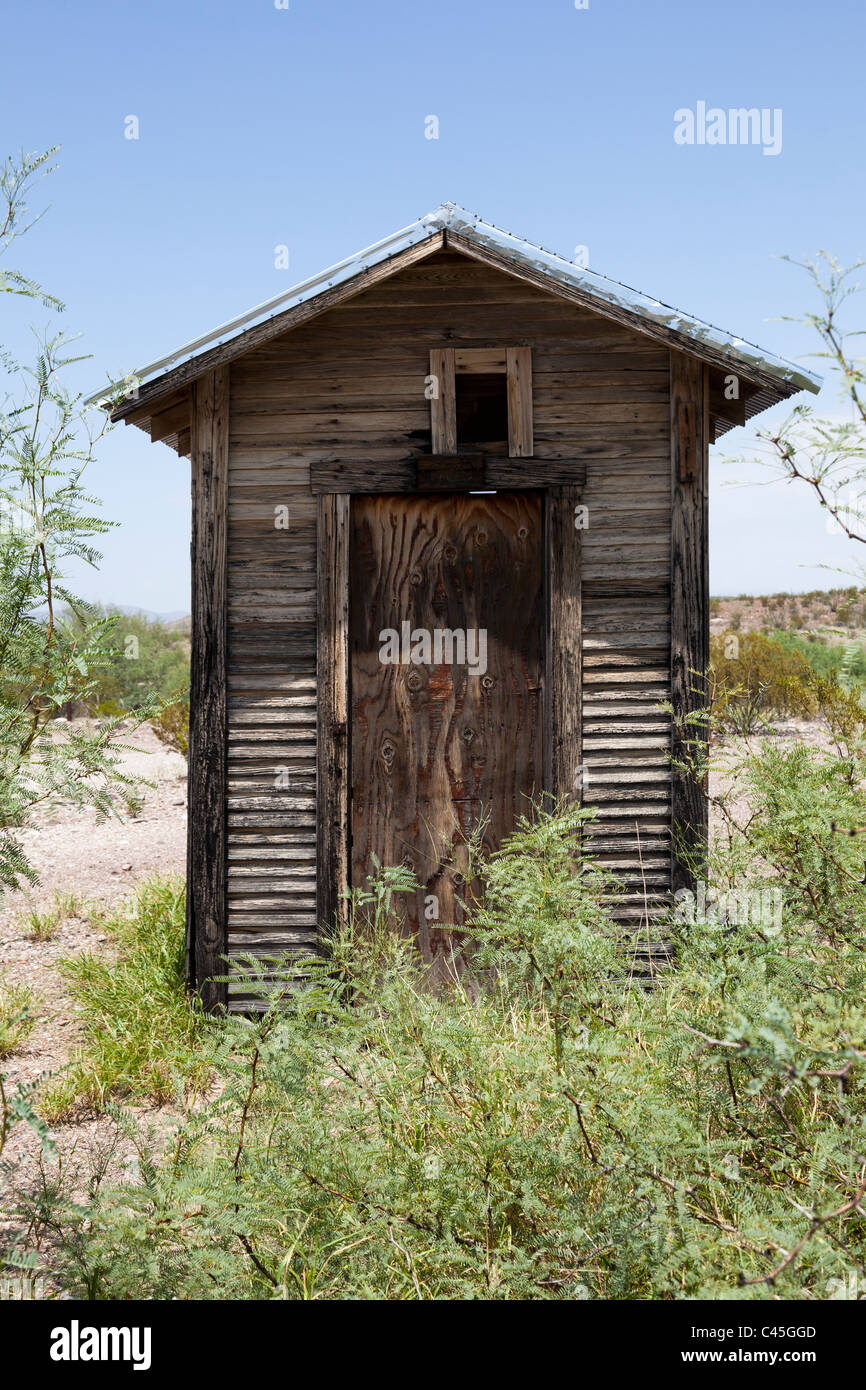 Remains of wooden shed at Castolon Big Bend National Park Texas USA - Stock Image